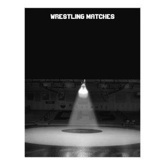 Black and white wrestling mat 21.5 cm x 28 cm flyer