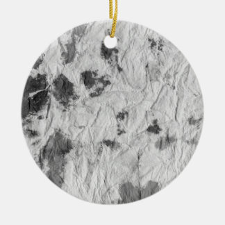 black and white wrinkled paper towel image ornament