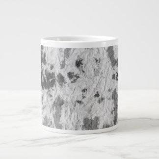 black and white wrinkled paper towel image jumbo mug