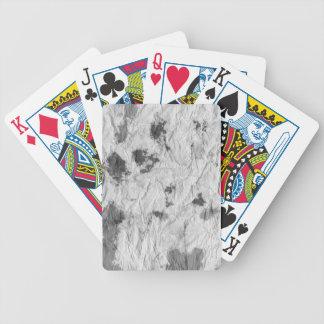 black and white wrinkled paper towel image poker deck