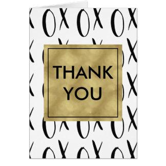 Black and White XOXO Thank You Card