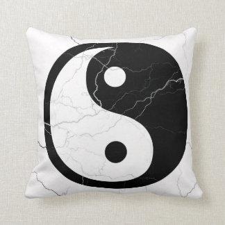 Black and White Yin and Yang Cushion