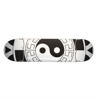 Black And White Yin Yang Pattern Skate Board Decks