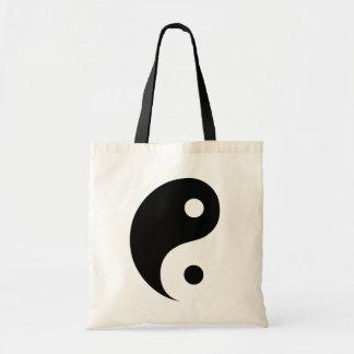 Black and White Yin Yang Taoist Symbol Tote Bag