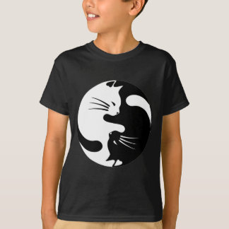 black and white yinyang cats T-Shirt