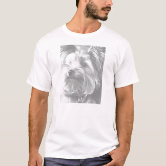 Black and White Yorkshire Terrier Yorkie T-Shirt
