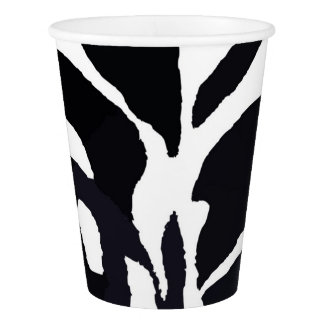 Black and white zebra animal fashion paper cup