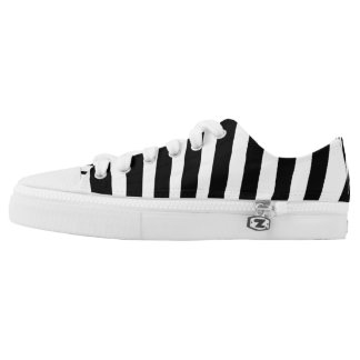Black and White Zebra Animal Print Low Tops