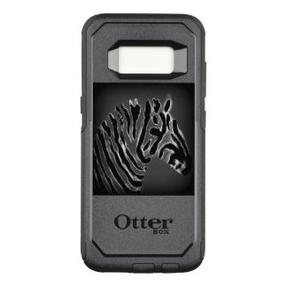 Black and White Zebra Art OtterBox Commuter Samsung Galaxy S8 Case