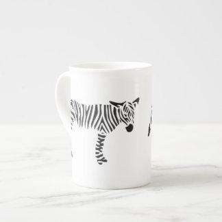Black and White Zebra Bone China Mug