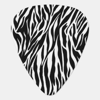 Black and white Zebra Pattern Guitar Pick