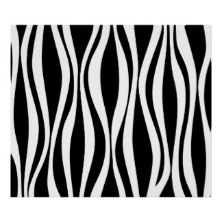 Black and white zebra pattern poster