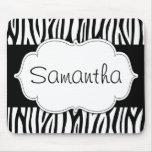 Black and White Zebra Personalised