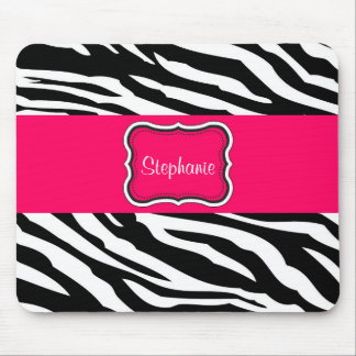 Black and White Zebra Personalized Mouse Pad