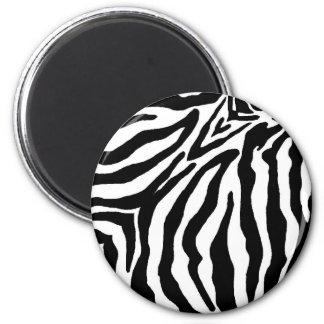 Black and White Zebra Print 6 Cm Round Magnet