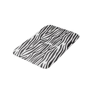 Black and White Zebra Print Bath Mat