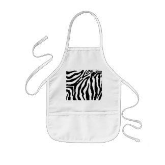 Black and White Zebra Print Kids Apron