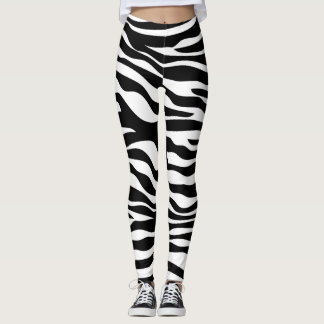 Black And White Zebra Print Leggings