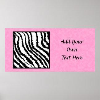 Black and White Zebra Print Pattern.
