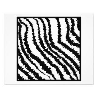 Black and White Zebra Print Pattern. 11.5 Cm X 14 Cm Flyer