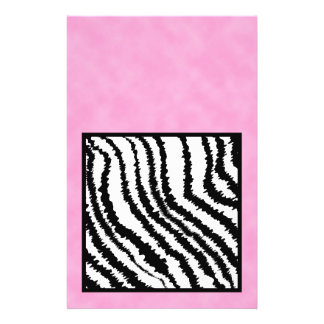 Black and White Zebra Print Pattern Personalized Flyer