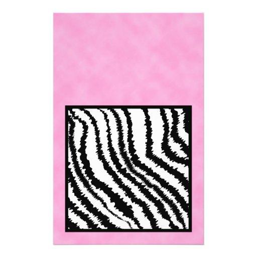 Black and White Zebra Print Pattern. Personalized Flyer
