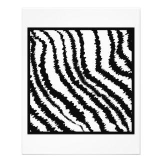 Black and White Zebra Print Pattern Custom Flyer