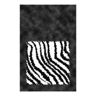 Black and White Zebra Print Pattern Flyers