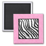 Black and White Zebra Print Pattern. Fridge Magnet