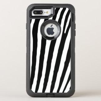 Black and White Zebra Print Pattern OtterBox Defender iPhone 8 Plus/7 Plus Case