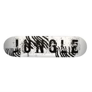 Black and White Zebra Print Pattern. Skate Deck