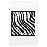 Black and White Zebra Print Pattern. Vinyl Magnets
