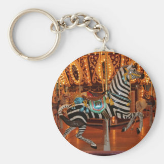Black and White Zebra Products Basic Round Button Key Ring