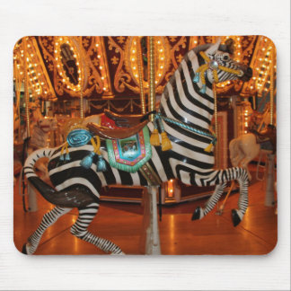 Black and White Zebra Products Mouse Pad