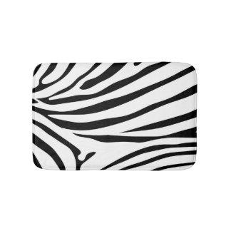 Black and White Zebra Safari Bath Mats