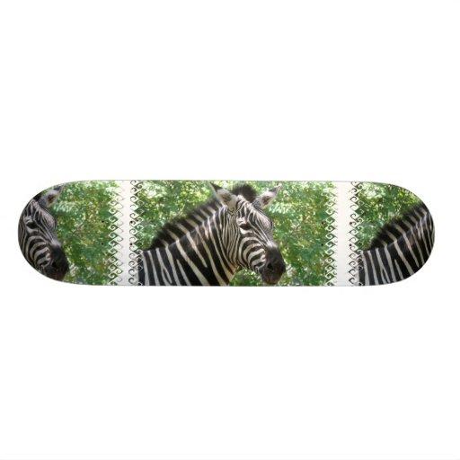 Black and White Zebra Skateboard
