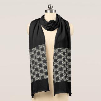 Black and White Zebra Stripe Jersey Scarf