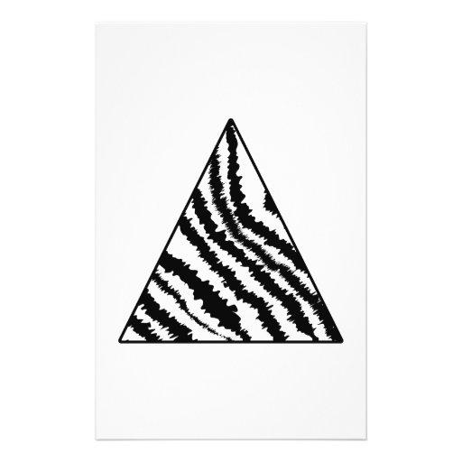 Black and White Zebra Stripe Triangle. Monochrome. Custom Flyer