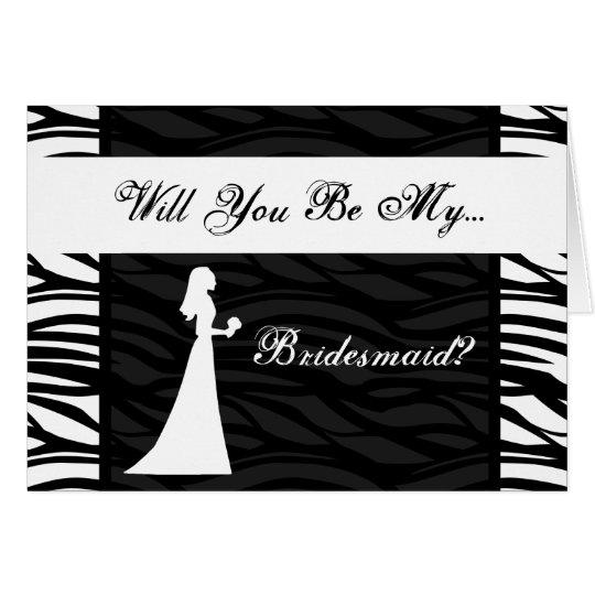 Black and White Zebra Stripe, Wedding Party Invite