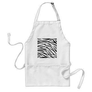 Black and White Zebra Stripes Apron