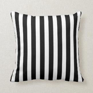 Black and white zebra stripes custom pillow