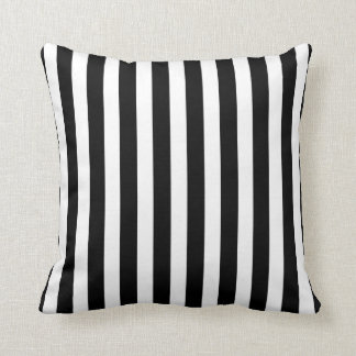 Black and white zebra stripes custom pillow throw cushions