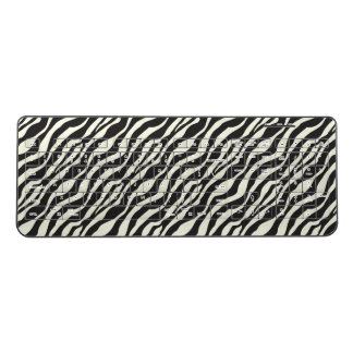 Black And White Zebra Wild Animal Skin Pattern Wireless Keyboard