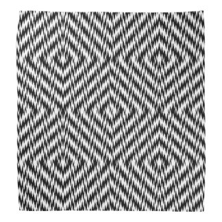 Black and White Zig Zag Bandana