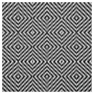 Black and White Zig Zag Fabric