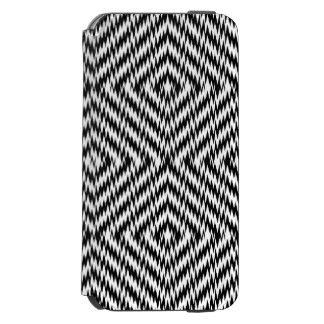 Black and White Zig Zag Incipio Watson™ iPhone 6 Wallet Case