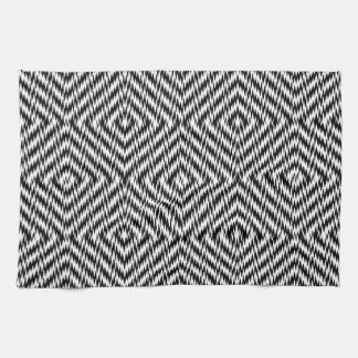 Black and White Zig Zag Kitchen Towels