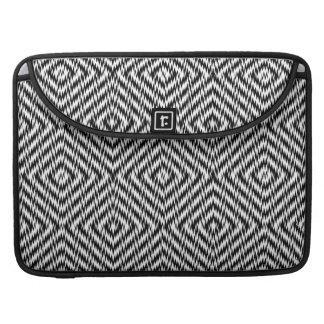 Black and White Zig Zag MacBook Pro Sleeve