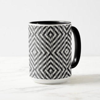 Black and White Zig Zag Mug