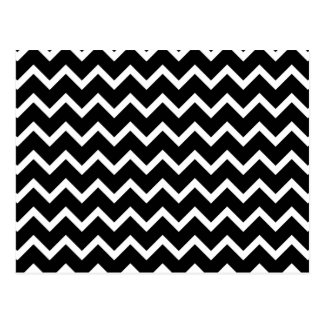 Black and White Zig Zag Pattern Postcards